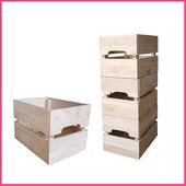 《2H 傢俱屋》實木整理分類箱(3個木箱1組)