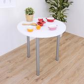 《頂堅》寬80x高75/公分-圓形餐桌/洽談桌/書桌(二色可選)(素雅白色)