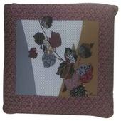 日本風純棉坐墊-網邊花紅(50*50cm)