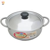《月陽》台灣製造食品級430不銹鋼加蓋20cm湯鍋(381512)