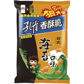 《乖乖》孔雀香酥脆狠大包-海苔(104g/包)