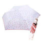 《好雅也欣》舒亦媚-抗UV防曬自動三折晴雨傘(櫻桃勾邊-白底小紅花)