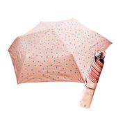 《好雅也欣》舒亦媚-抗UV防曬三折晴雨傘(五彩水玉點-桔底藍粉點)