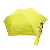 《好雅也欣》舒亦媚-抗UV防曬三折晴雨傘(五彩水玉點-綠底藍紫點)