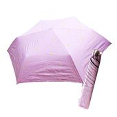 《好雅也欣》舒亦媚-抗UV防曬三折晴雨傘(閃亮星星-紫底粉星)