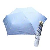 《好雅也欣》舒亦媚-抗UV防曬三折晴雨傘(閃亮星星-藍底粉星)