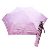 《好雅也欣》舒亦媚-抗UV防曬三折晴雨傘(雪花-紫底白花)