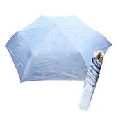 《好雅也欣》舒亦媚-抗UV防曬三折晴雨傘(雪花-藍底藍花)