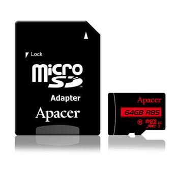 《Apacer》Apacer宇瞻 64GB MicroSDXC UHS-I Class10 記憶卡 85MB/s