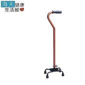 《海夫健康生活館》耀宏醫療用柺杖(未滅菌)YH127-3 鋁合金主體 四腳拐杖 問號型小爪
