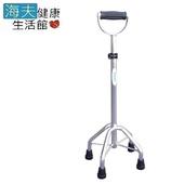 《海夫健康生活館》耀宏醫療用柺杖(未滅菌YH127-2 鋁合金四腳拐杖 U型中爪