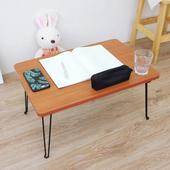 《頂堅》(折合腳)折疊桌/野餐便利桌/摺疊桌/和室桌/休閒桌-寬60x長40x高30/公分(楓葉紅木色)(楓葉紅木色)