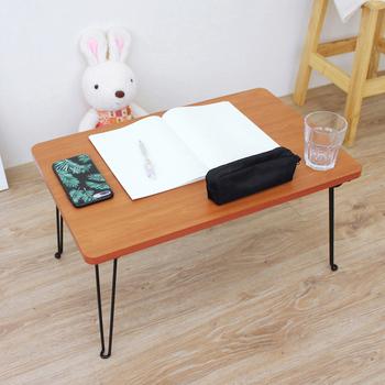頂堅 (折合腳)折疊桌/野餐便利桌/摺疊桌/和室桌/休閒桌-寬60x長40x高30/公分(楓葉紅木色)(楓葉紅木色)