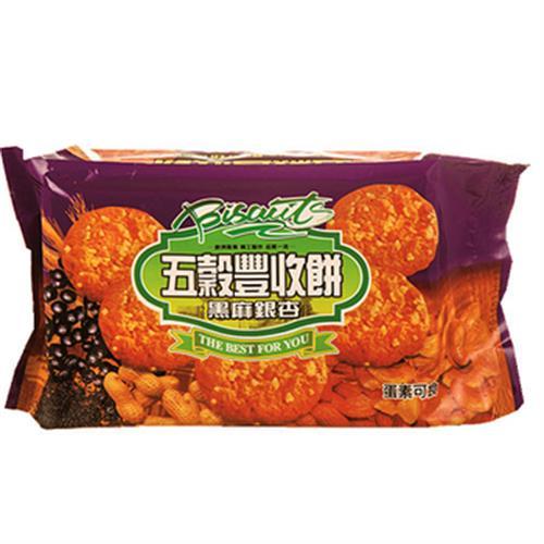 黑麻銀杏五穀豐收餅(320公克)