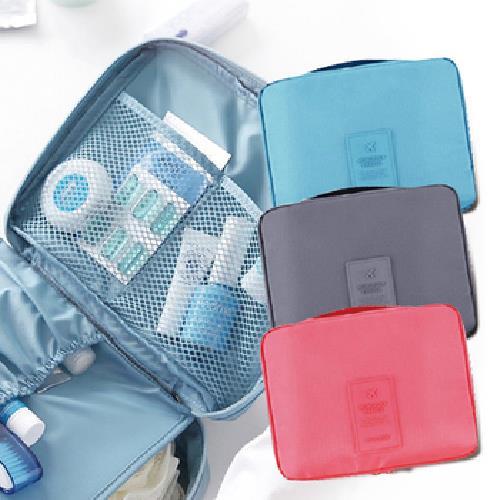 《JIDA》新一代旅遊收納盥洗包-顏色隨機出貨(21x16x7 cm)