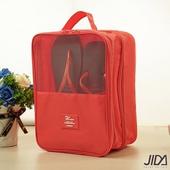 《JIDA》簡約乾濕兩用雙層手提鞋袋-顏色隨機出貨(31X23X19cm)