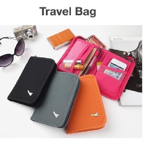 多功能旅行收納護照包-短版(顏色隨機出貨)(12.5X18X2.5cm)