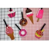 Q版可愛行李箱吊牌-款式隨機出貨甜食款
