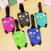 Q版行李吊牌-行李箱款 9X5.5cm(顏色隨機出貨)
