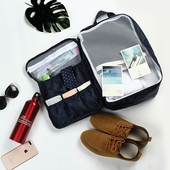 時尚輕旅行可後背式行李袋(時尚黑)