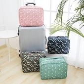 多彩繽紛旅遊行李拉桿包-顏色隨機出貨(38X28X3cm)