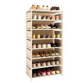 《免運》點點多彩八層簡易鞋櫃60X120X30cm(銀灰)