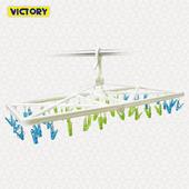 《VICTORY》大型折疊防風曬衣架-50夾