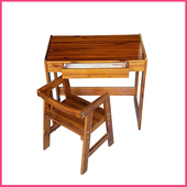 《2H 傢俱屋》洋槐木兒童成長型書桌椅