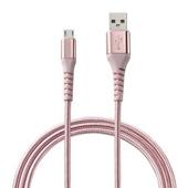 《MINIQ》Micro USB充電傳輸線1.2M-IC1200M(粉)