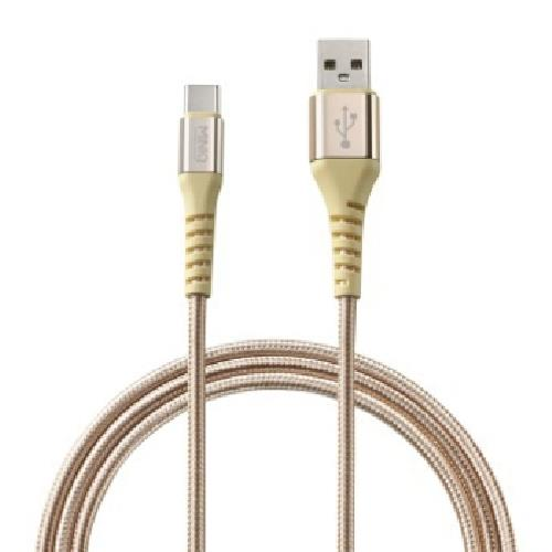 MINIQTYPE-C充電傳輸線2M-IC2000T(金)
