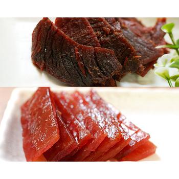 《這一包》頂級牛/豬肉乾(45g±5%/包)附專用叉(5包+5包)