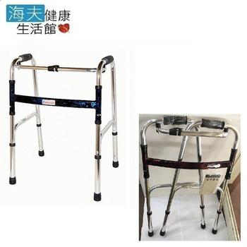 海夫健康 恆伸機械式助行器 (未滅菌)鋁合金 1吋亮銀色 加高款助行器 扁圓管(ER-3429-1)