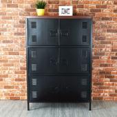《Homelike》特爾工業風六門置物櫃