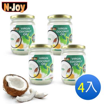 《N-Joy 恩久》500ml有機冷壓初榨椰子油(4入)