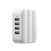 MINIQ智慧型4孔USB急速充電器AC-DK40T(白)