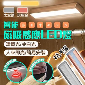《新一代》智慧磁吸LED居家生活感應燈/衣櫥燈(銀色白光)