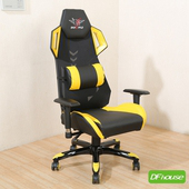 《DFhouse》鋼甲武士-電競椅(黃色)