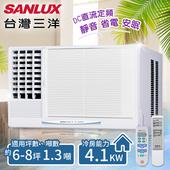 《台灣三洋SANLUX》6-8坪定頻窗型冷氣(220V電壓)。左吹式/SA-L41FE(含基本安裝)(共同)