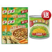 《康寶》自然港式酸辣濃湯四入加玉米粒(186.4g/組)