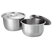 《Dashiang》304不鏽鋼料理鍋雙入組-含蓋 18+22cm(DS-B35-2218)