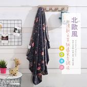 《FOCA》【FOCA 千鳥時光】北歐風-小清新云芙絨透氣空調毯-韓國設計