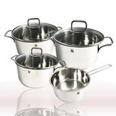 《WMF》Cromargan®18/10不鏽鋼湯鍋4件組(含鍋蓋)