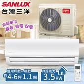 《台灣三洋SANLUX》4-6坪 定頻單冷分離式冷氣 一對一 /SAE-36M+SAC-36M(含基本安裝)(共同)