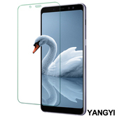 《YANGYI揚邑》Samsung Galaxy A8+ 2018 6吋 鋼化玻璃膜9H防爆抗刮防眩保護貼(A8+ 2018 非滿版鋼化膜)