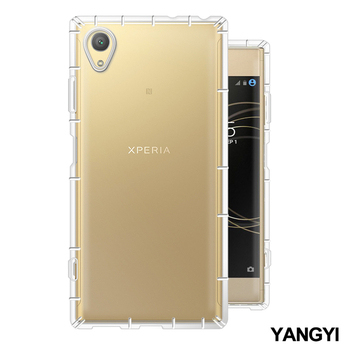 《YANG YI揚邑》SONY Xperia XA1 Plus 5.5吋 氣囊式防撞耐磨不黏機清透空壓殼(Xperia XA1 Plus)