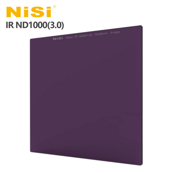 《NiSi 耐司》IR ND1000(3.0)方型減光鏡 70x80mm(公司貨)-減10格