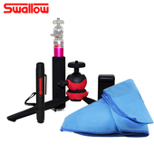 《Swallow》清潔組合7(拭鏡筆+拭鏡包布+MK02)-不挑色