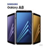 《SAMSUNG》【SAMSUNG 三星】Galaxy A8 2018 (4G/32G)  防水美拍奇機     ▸A530暗戀黑 $7990