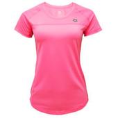 《KRATOS》彈性紗抗UV運動T恤精典款螢粉色(NKT10M51040701-M)