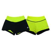 《KRATOS》雙面穿功能排汗運動短褲螢黃色(NKT10L02031004-L)